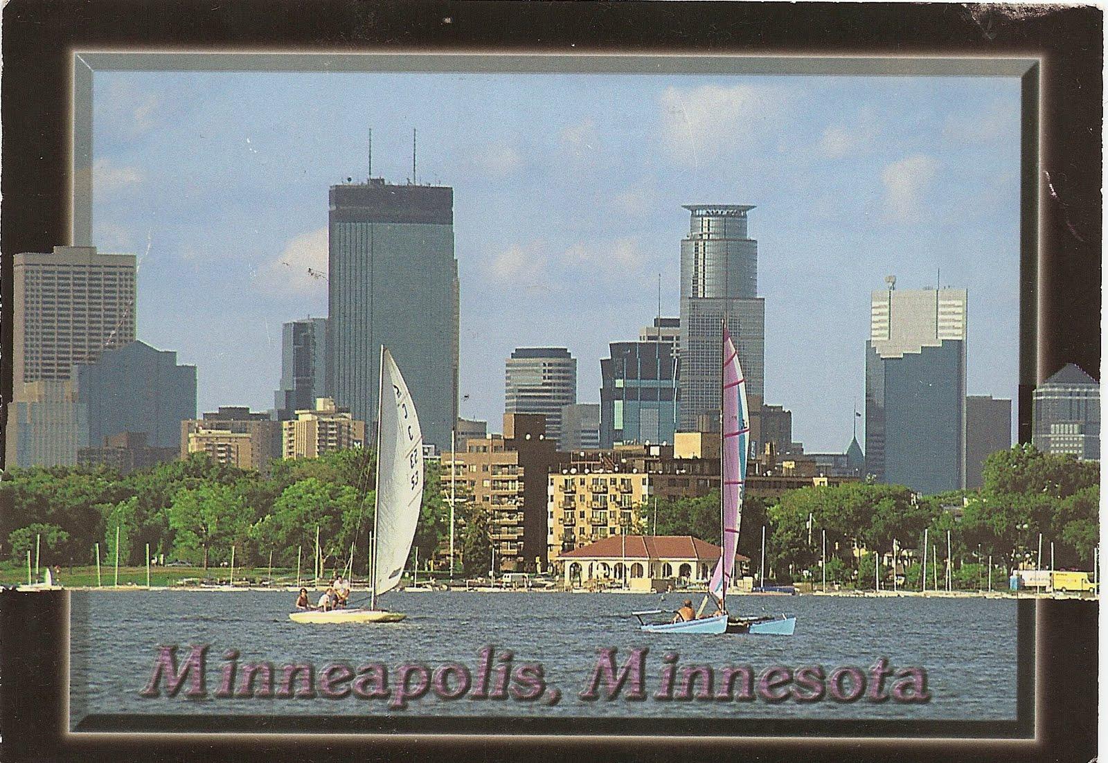 Around the world in postcards 25 usa minneapolis minnesota