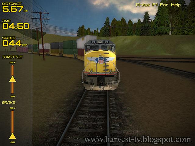 تحميل لعبة قيادة القطارات للكمبيوتر Freight Train Simulator 2014