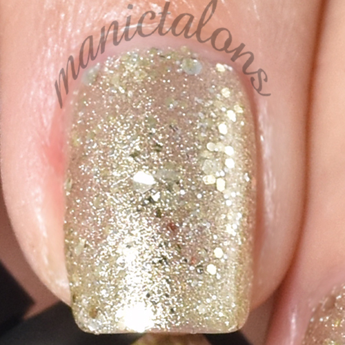 Pink Gellac Diva Gold Swatch