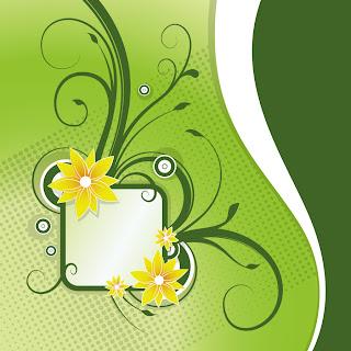 植物柄のアナウンス ボード Floral Announcement