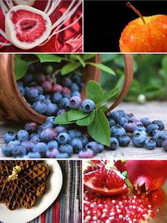 Пирожные, ягодки, еда