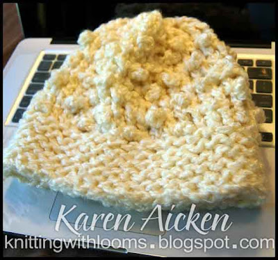 Knitting Stitches Popcorn : Knitting With Looms: Popcorn Stitch Hat