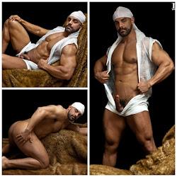 Barbudão em fotos sensuais