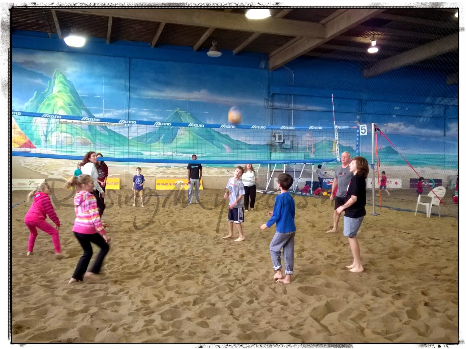 indoor beach volleyball