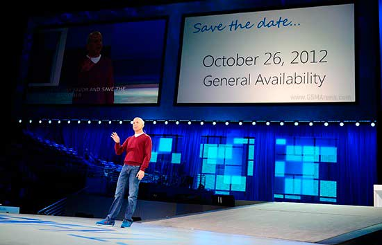 October 26 is the date of Windows 8 coming