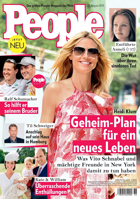 Actress, Model @ Heidi Klum - People Germany, August 2015