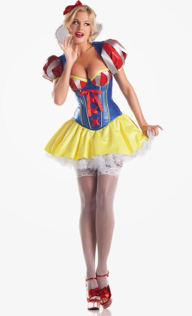 Women's 5 Piece Sweetheart Snow Costume