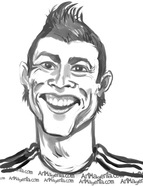 Cristiano Ronaldo is a caricature by Artmagenta