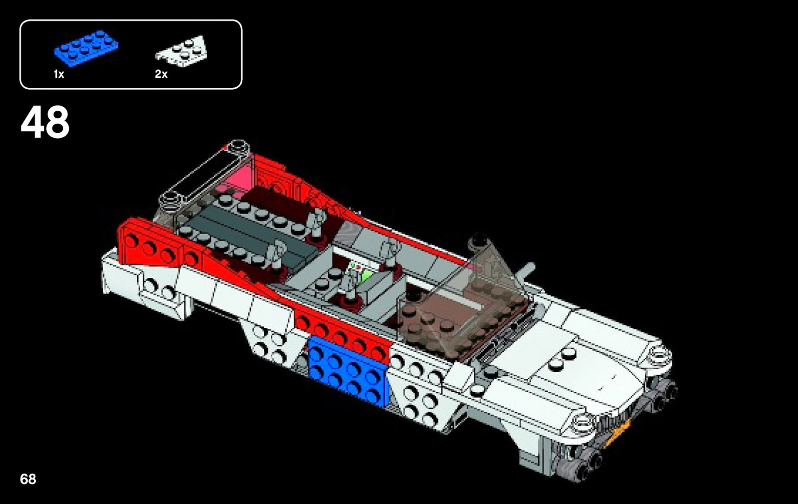 lego ghostbusters ecto 1 and 2 instructions