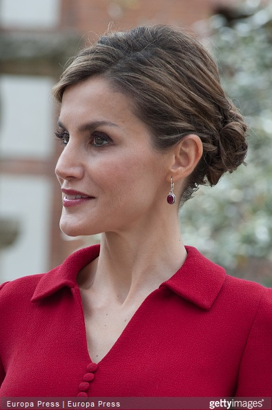 Queen Letizia of Spain attends Cervantes Award Ceremony at Alcala de Henares University on April 23, 2015 in Alcala de Henares, Spain.