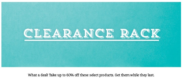 Promotions // Clearance Rack