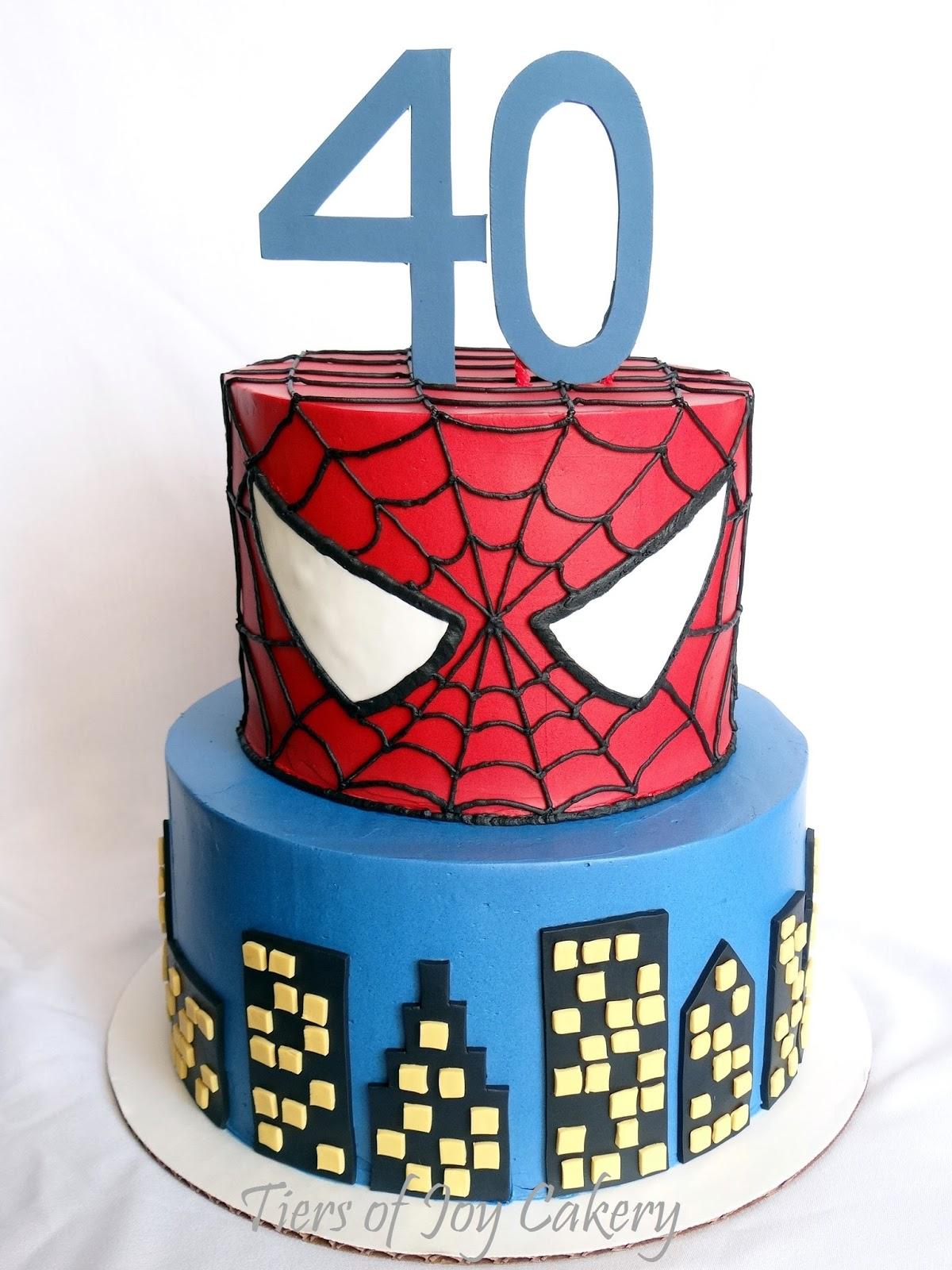 How To Make Spiderman Ice Cream Cake