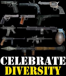 celebrate diversity shirt gun