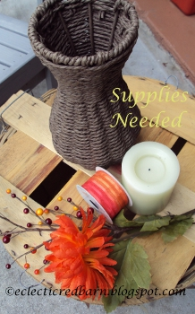 Eclectic Red Barn: Wicker vase supplies needed
