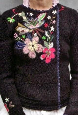 haft na swetrze
