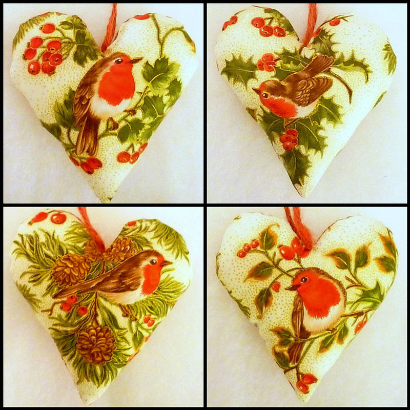 Red Robin Christmas Tree Decorations : Lucky dragonfly craft robin christmas heart tree or room