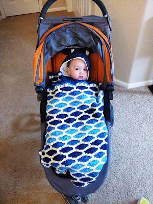 Streamwave blue baby blanket