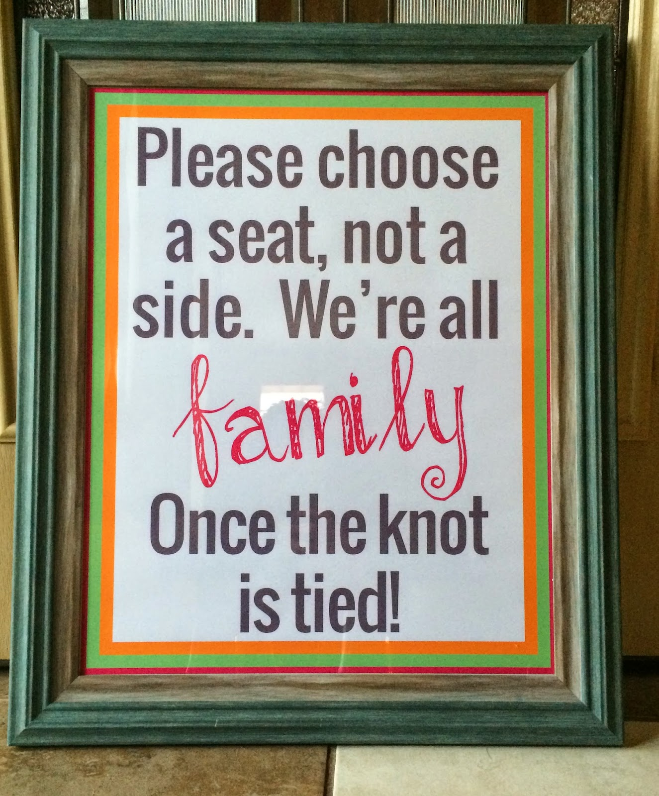 Doeblerghini Bunch - Wedding Signage - Seat not a Side