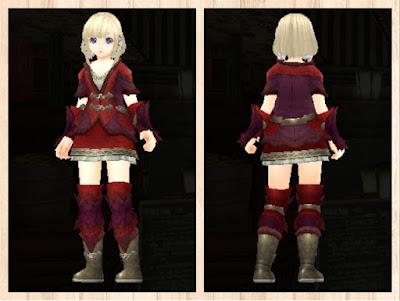 緑竜の衣 プレアマ3色(赤紫1+茶2+赤3)