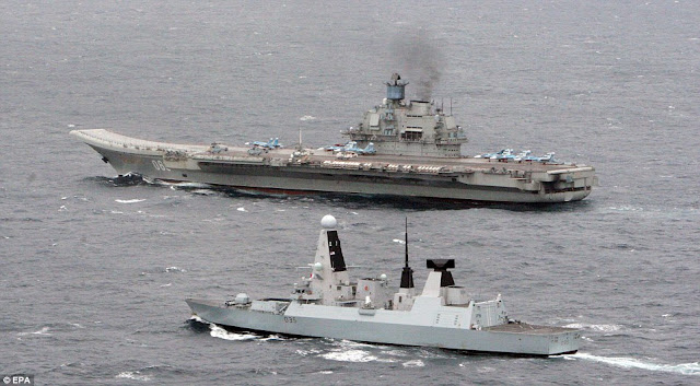 RFS Kuznetsov and HMS Dragon