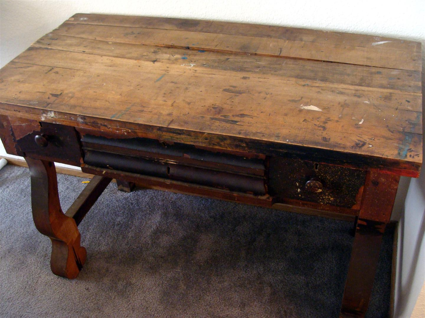 diddle dumpling: Antique Writing Desk Transformation: The Reveal!