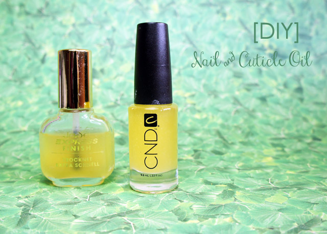 homemade cuticle oil