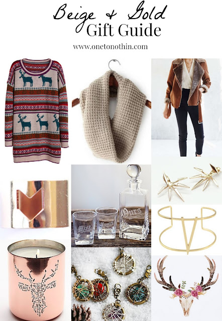 One to Nothin' Christmas Gift Guide - Gold & Beige
