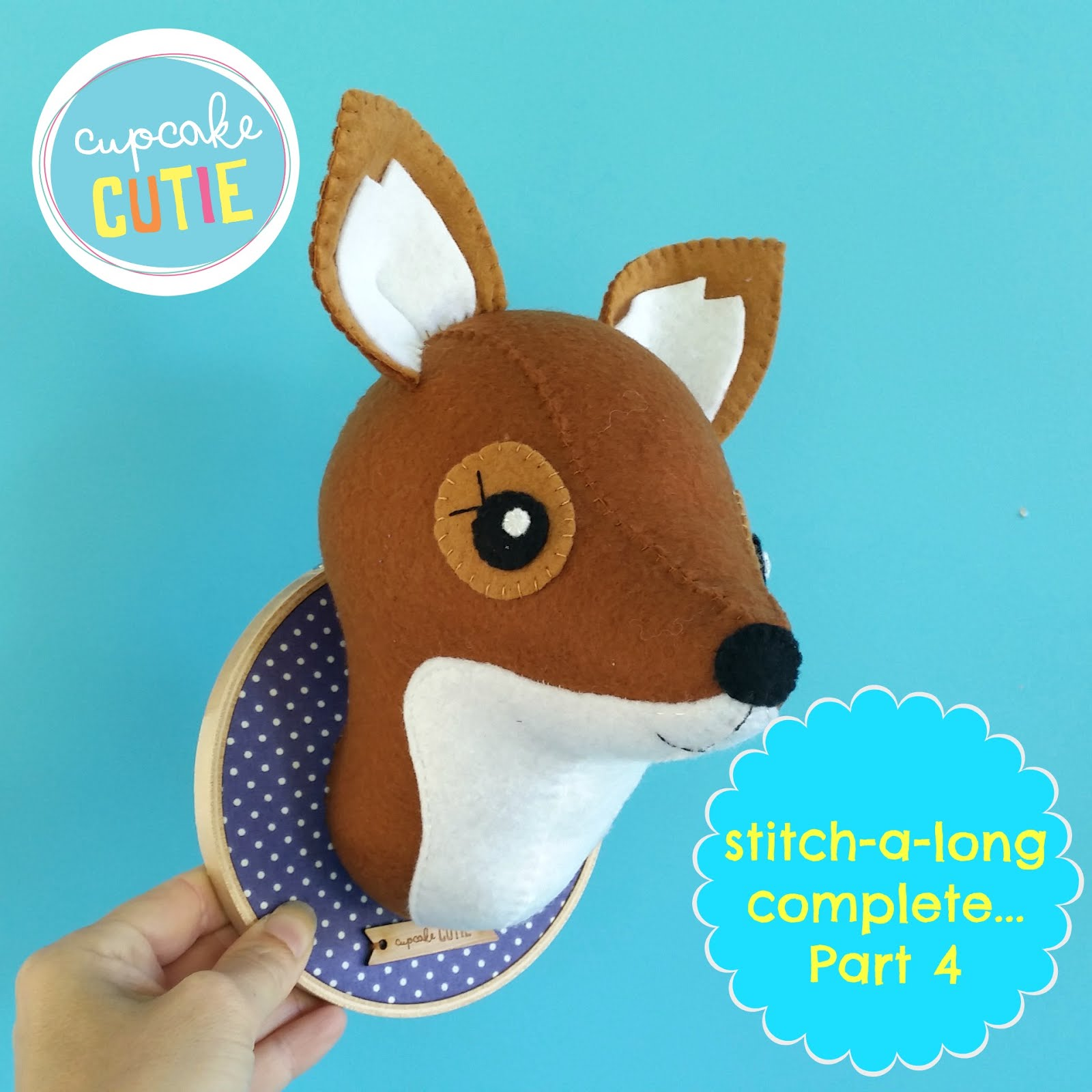 Faux Taxidermy Fox stitch-a-long