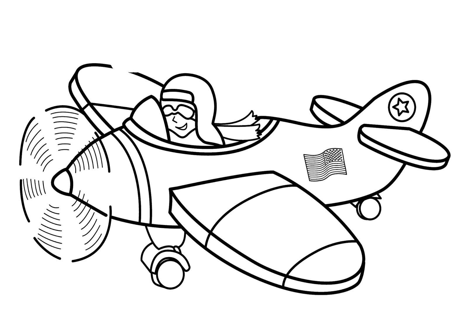 Printable Airplane Coloring Pages #1
