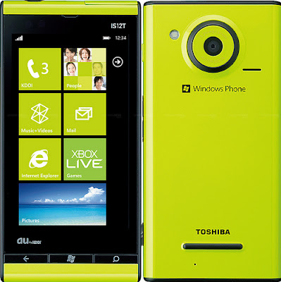 new Fujitsu IS12T WP7 Mango Phone