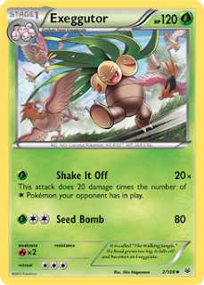 Exeggcutor Roaring Skies Pokemon Card