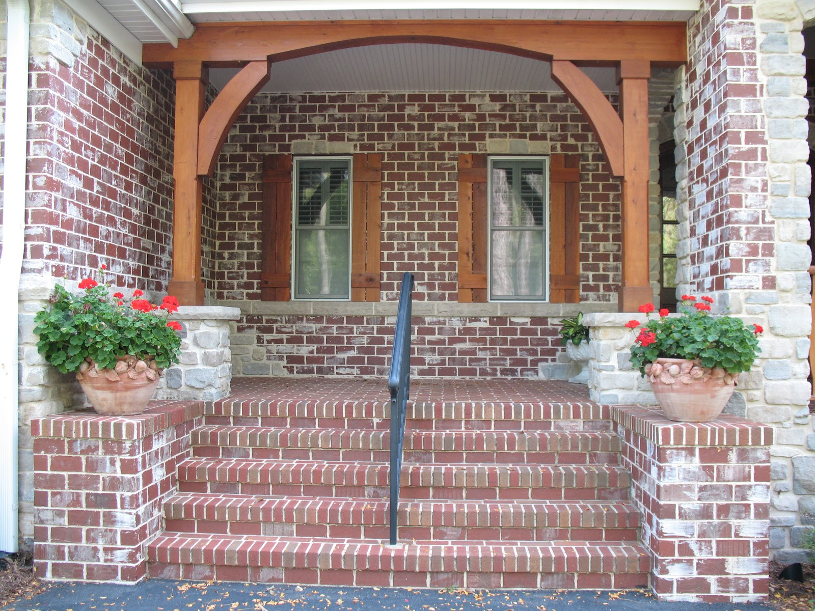 The 15 best brick front porches home building plans 5255 for Brick porch designs for houses