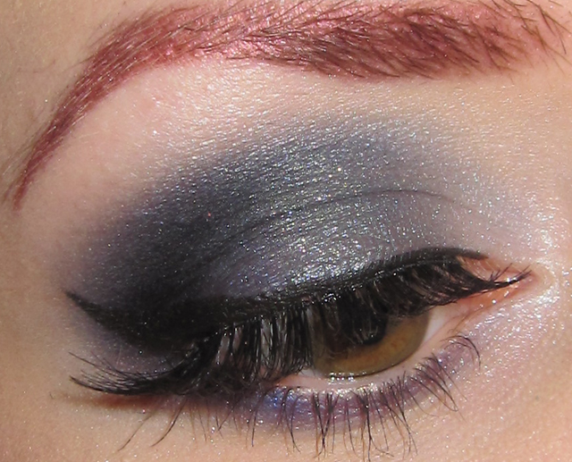 Glitter Is My Crack Silver Gray And Blue Eye Makeup Look