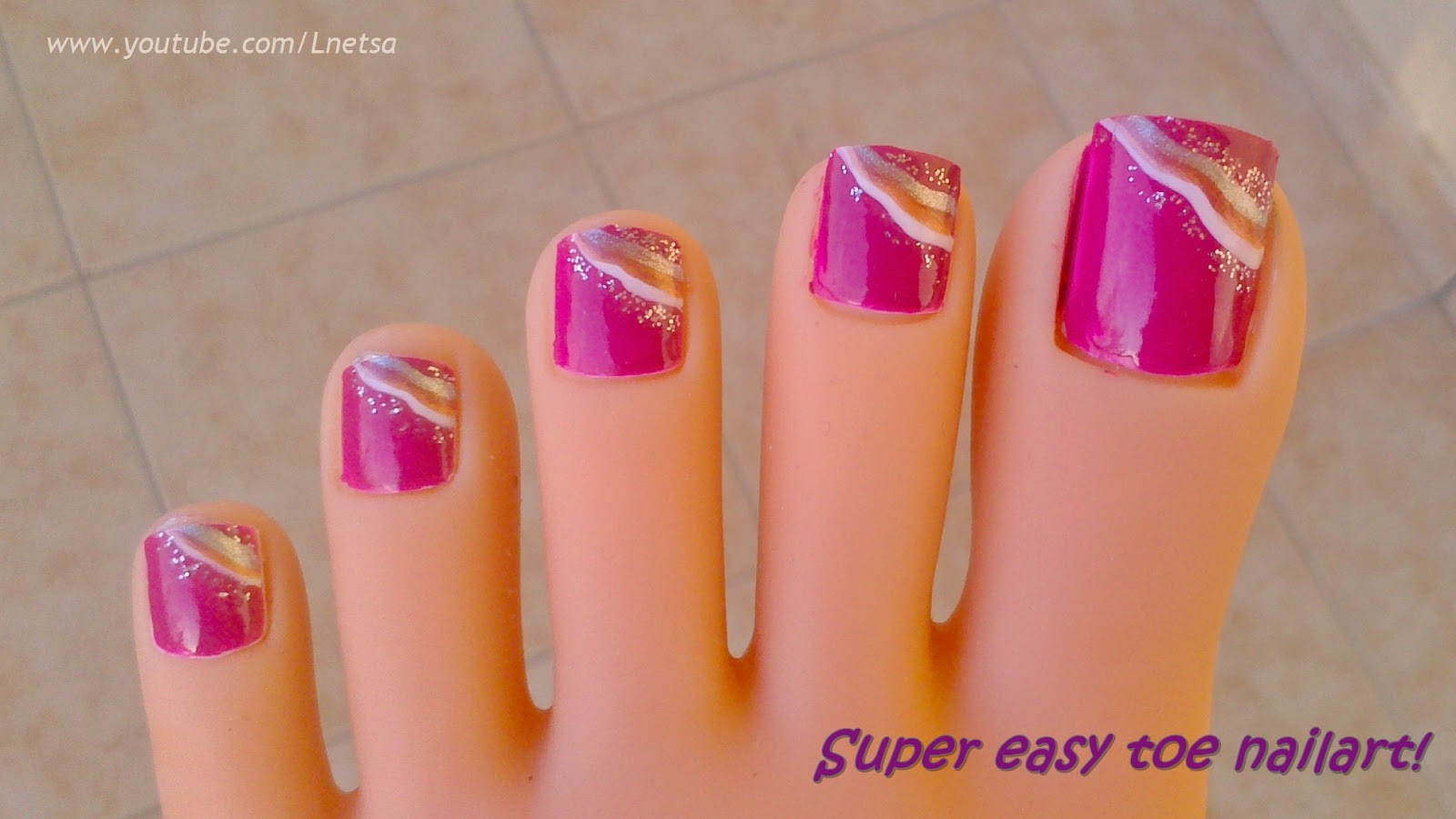 Lnetsa S Nailart Super Easy Toe Nailart