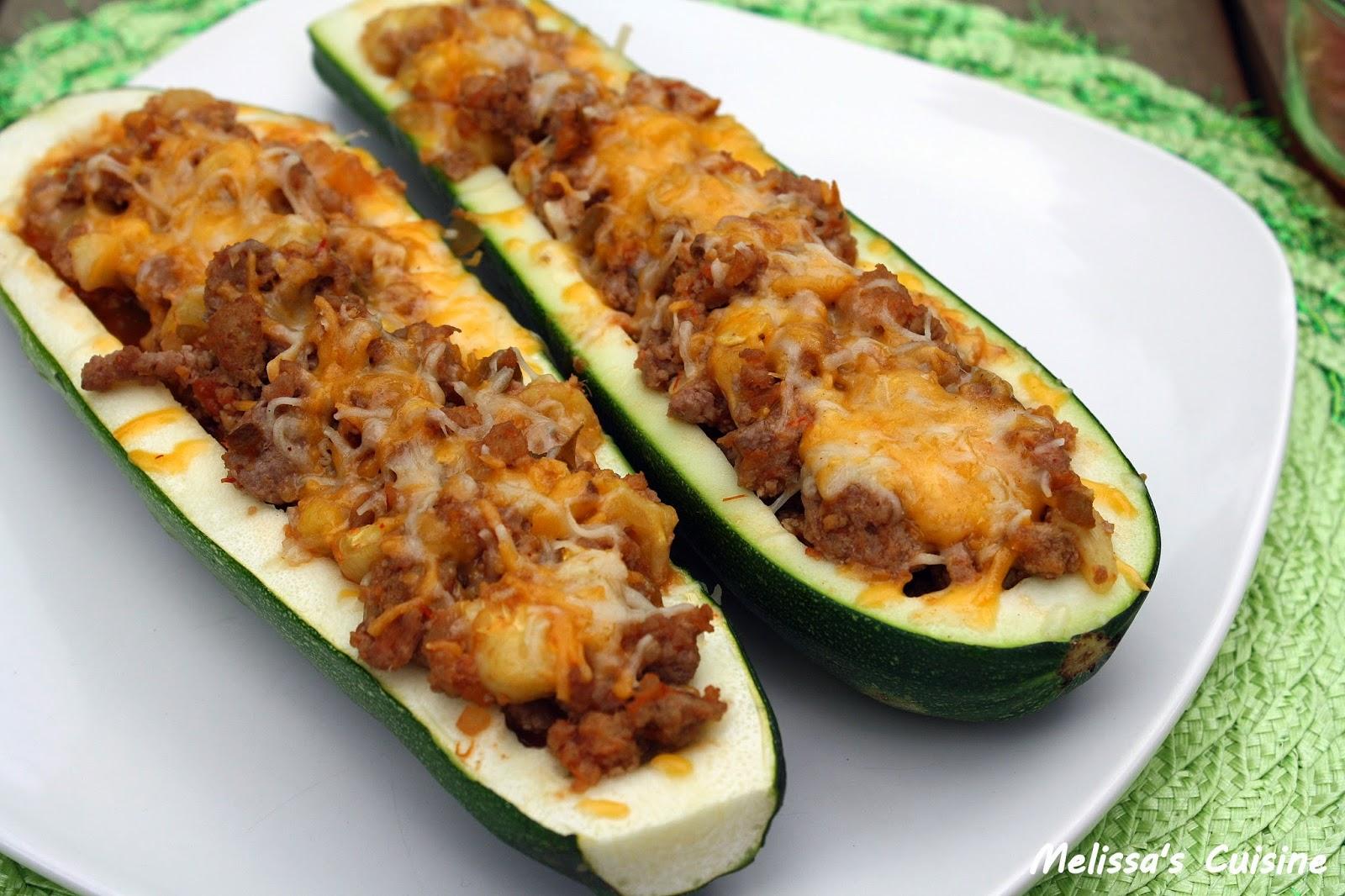Melissa's Cuisine: Stuffed Zucchini Boats