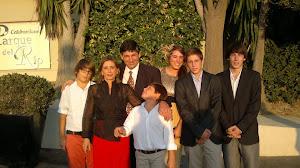 Angel Calderón, Angeles Extremera y Lourdes, Angel, Julián Miguel, Rafael y Pablo.,