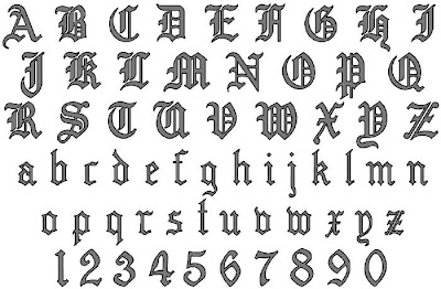 Old English Font Tattoo Designs
