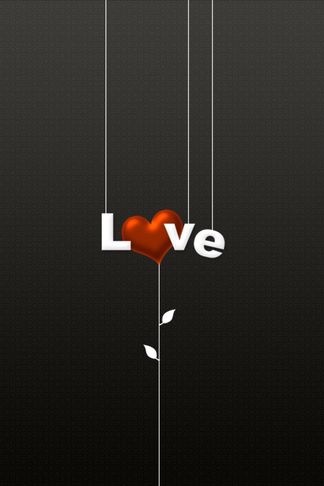Love Heart iPhone Wallpaper in HD