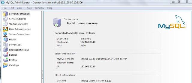 Conexión Usuario MySQL