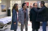 Fernando Andina, Paula Echevarría, Marcial Álvarez y Tito Valverde en el plató de 'Hospital Central'