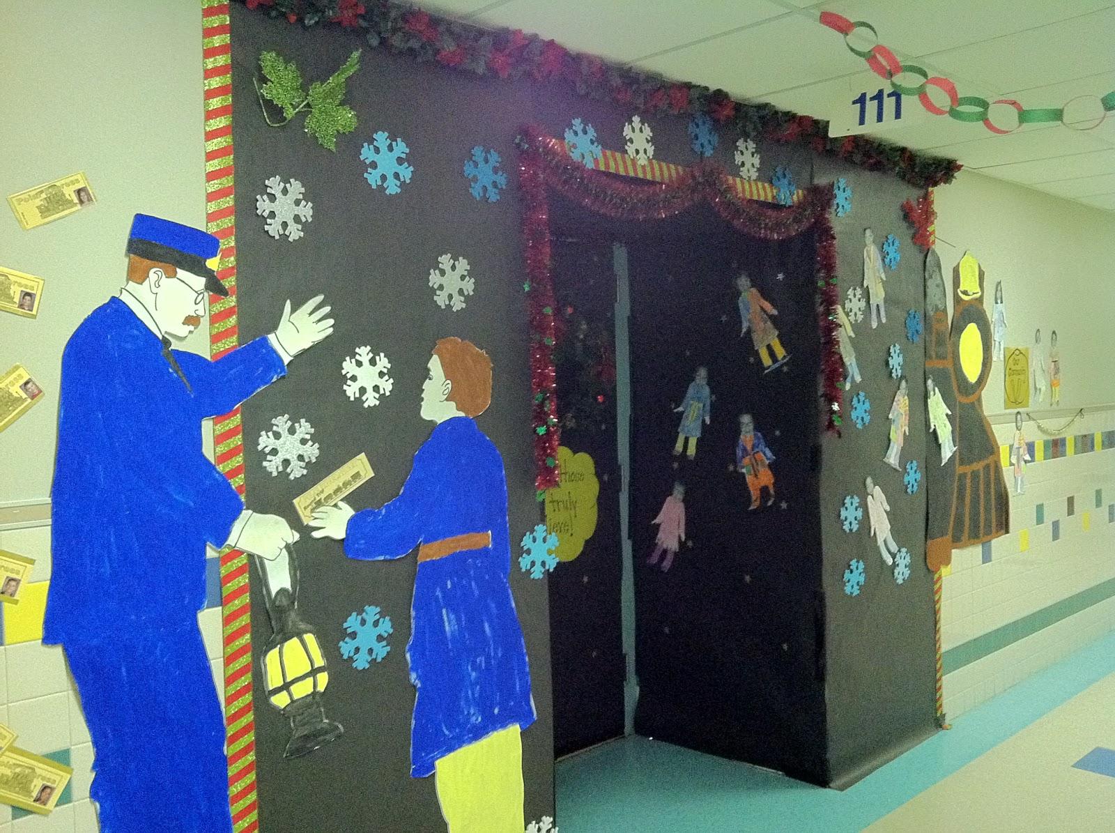 Mr first grade christmas door contest for Decor express