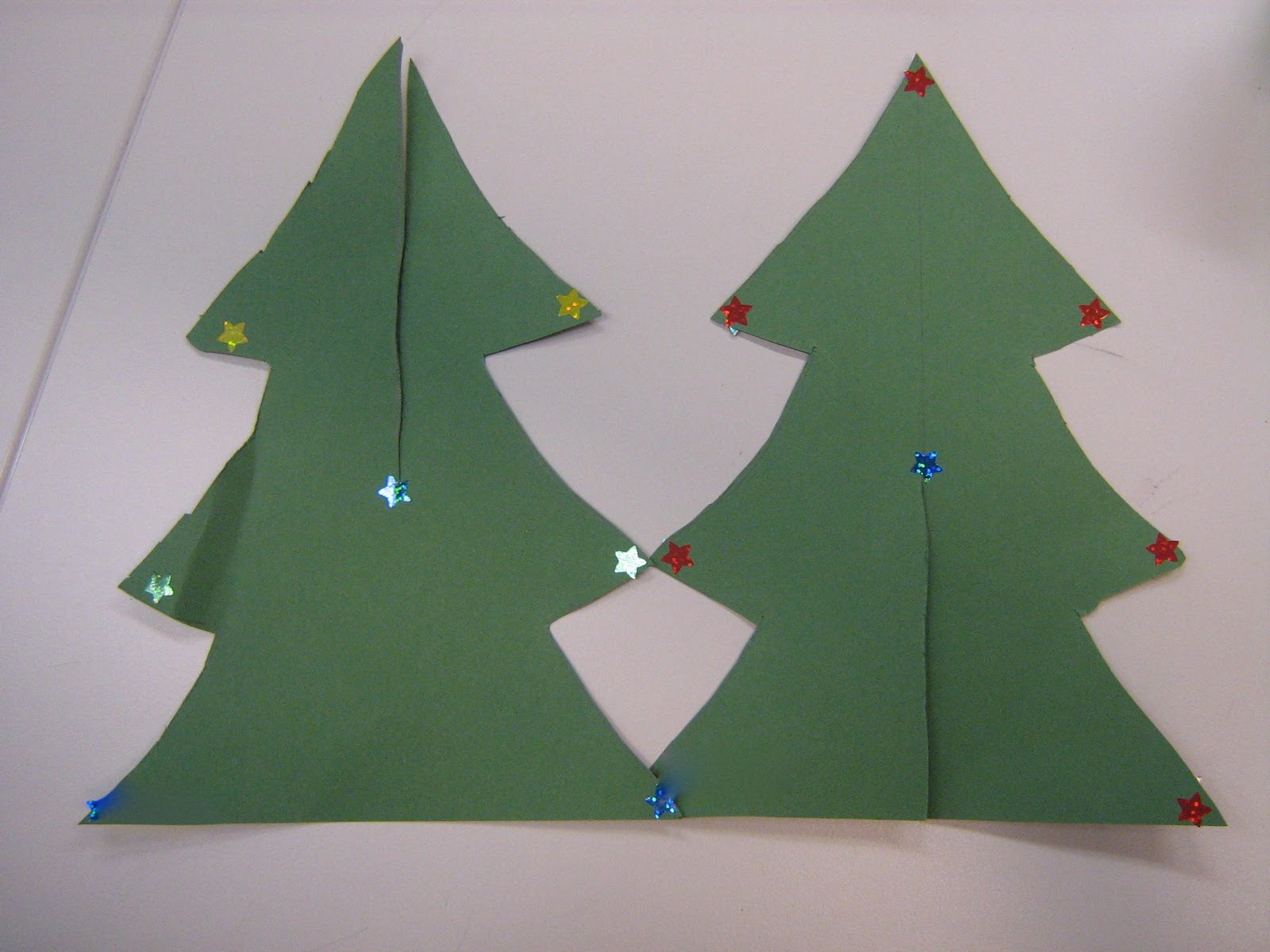Christmas Tree Cut Out Paper christmas trees