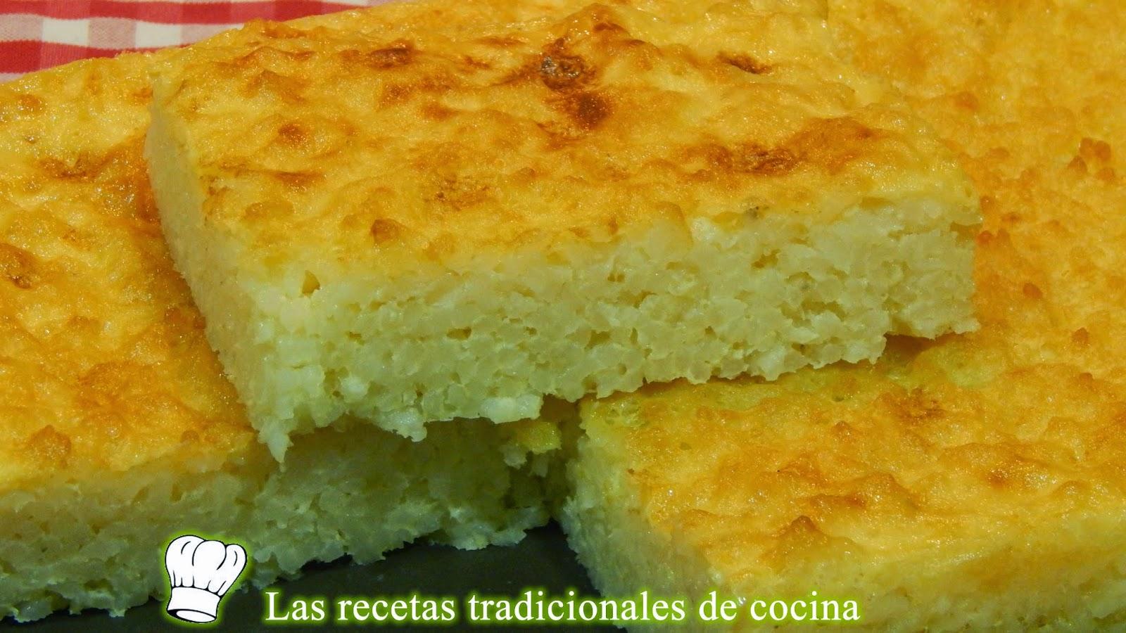 pastel de arroz con leche al horno