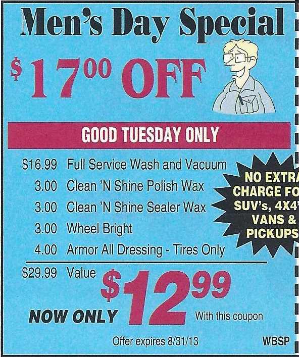Lozano Car Wash Coupon Tuesday