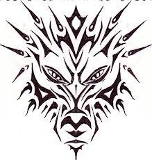 Motif Tato Singa Hitam Putih 18