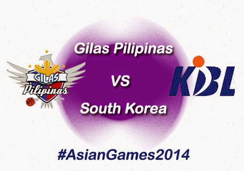 Gilas Pilipinas vs South Korea Game Results, Highlights & Video - 2014 Asian Games