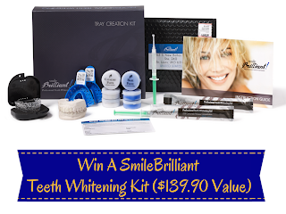 Enter the Win a SmileBrilliant Teeth Whitening Kit Giveaway. Ends 11/5.