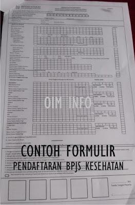 Contoh Formulir Pendaftaran BPJS Kesehatan