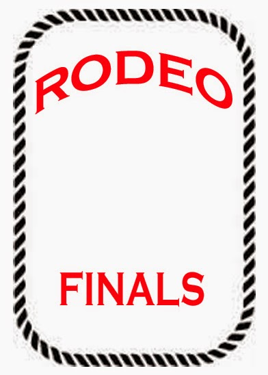RODEO ACTIVITY AND GAME PAGES: Rodeo Contestant Back Number #2 Blank