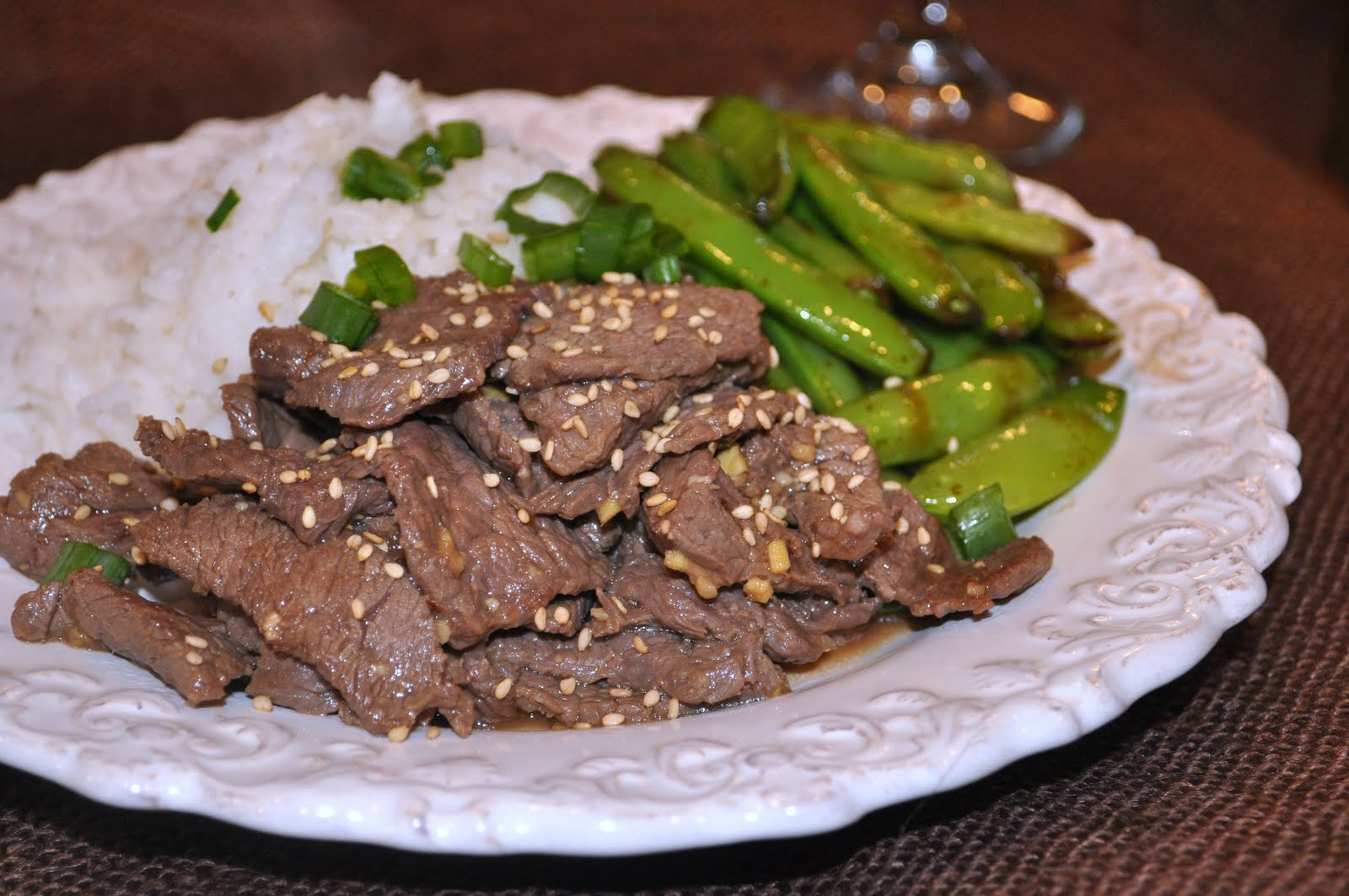 Steak Teriyaki with Sugar Snap Peas